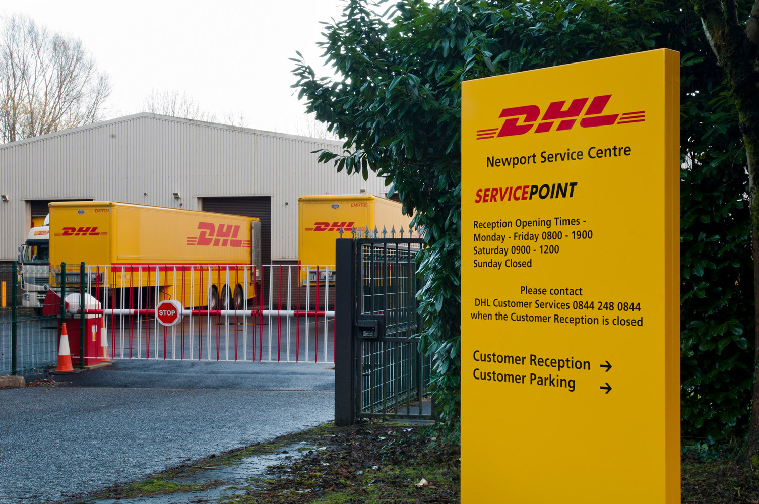DHL - Newport Service Centre - Lakeside Signs