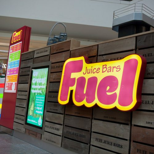 Fuel Juice Bars - Illuminated Sign